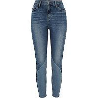 Mid blue wash Lori panel jeans