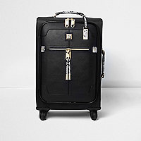 Black snake print wheelie suitcase