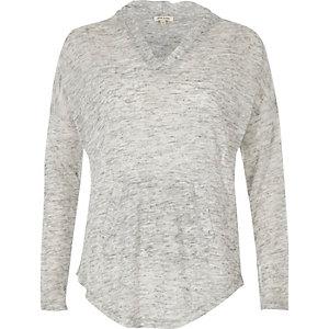 Light grey lightweight hoodie