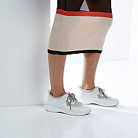 RI Studio white chunky runner trainers