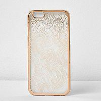 Coque métallisée façon or rose pour iPhone 6