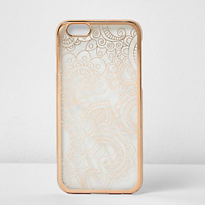 Rose gold metallic iPhone 6 case