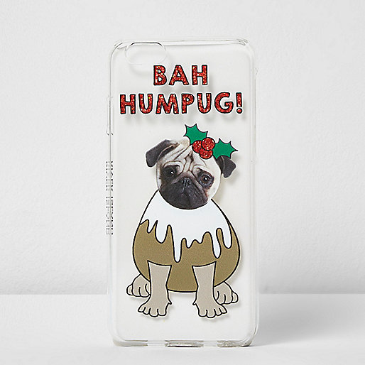 Red Christmas pug iPhone 6 case