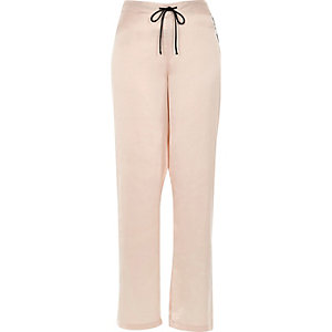 Cream satin pyjama trousers