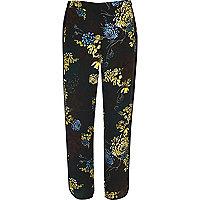 Blue floral print soft pants
