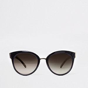 Zwarte cat-eye-zonnebril