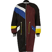 Anorak colour block noir