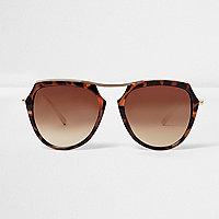 Braune Schildpattsonnenbrille