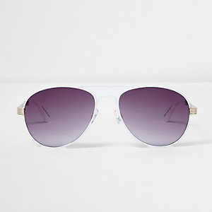 White smoke lens sunglasses