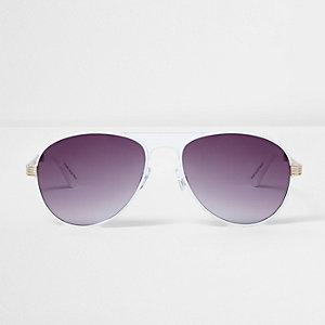 Witte zonnebril met getinte glazen