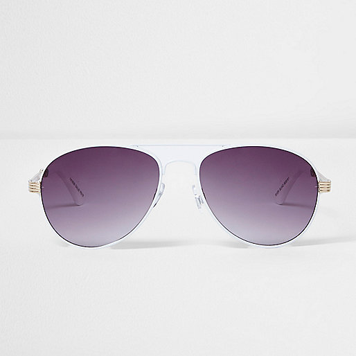 White smoke lens sunglasses