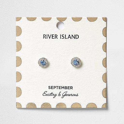 Ohrstecker mit blauem Geburtsstein für den Monat September