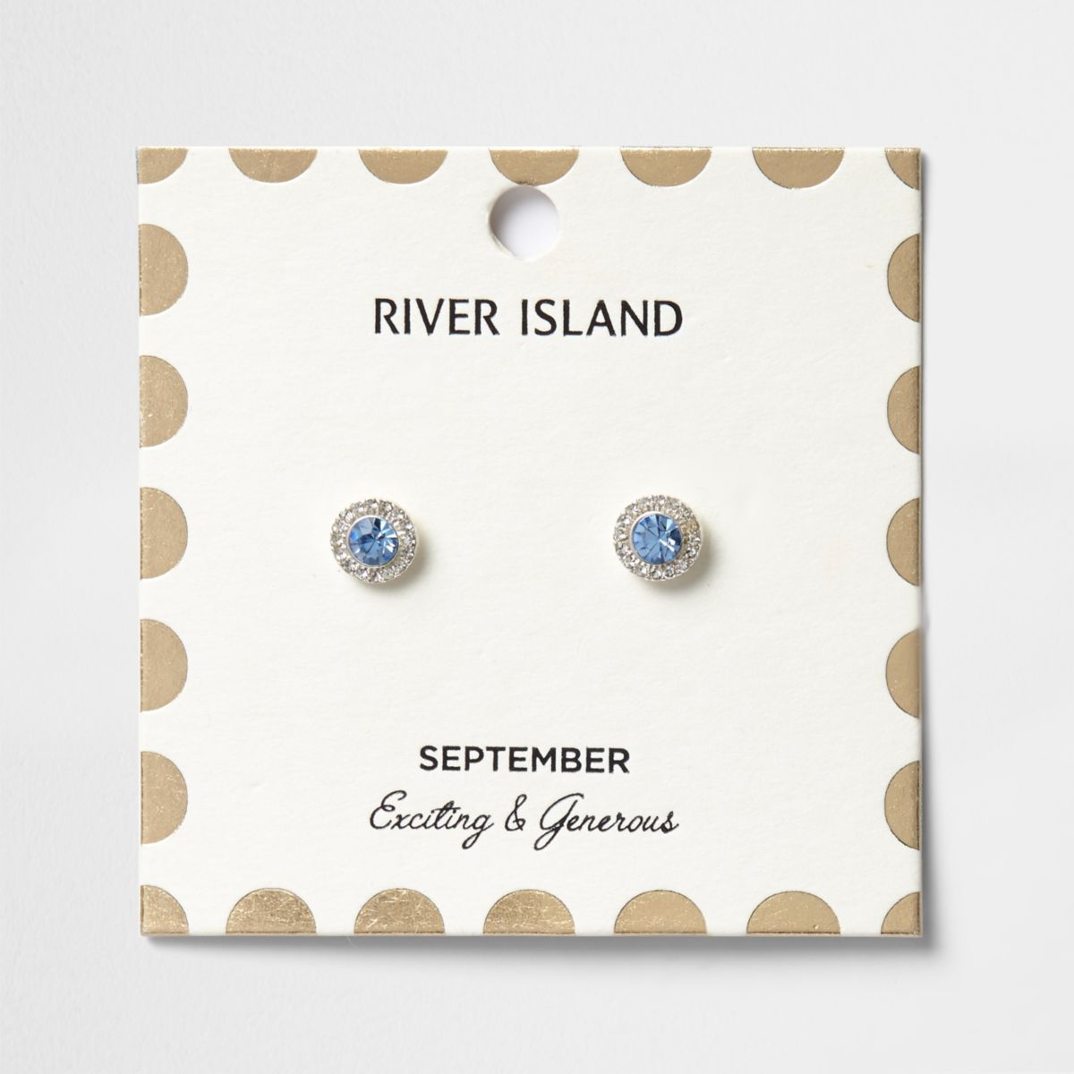 Blue September birthstone stud earrings