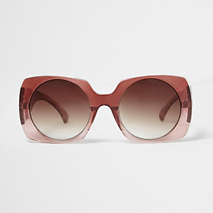 Red fade square sunglasses