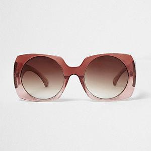 Zonnebril met vierkante vervagend rode glazen