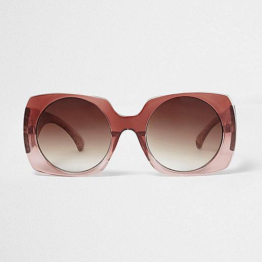 Red fade square sunglasses