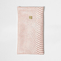 Pink snake print snap sunglasses case