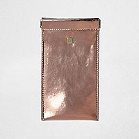 Rose gold hologram snap sunglasses case