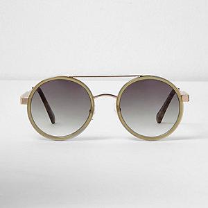 Runde Sonnenbrille in Khaki