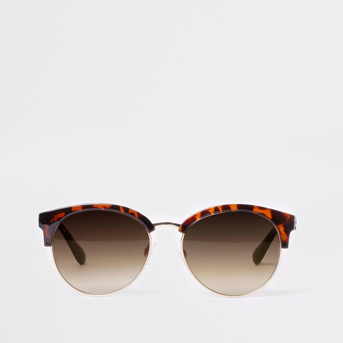 Brown tortoiseshell frame sunglasses