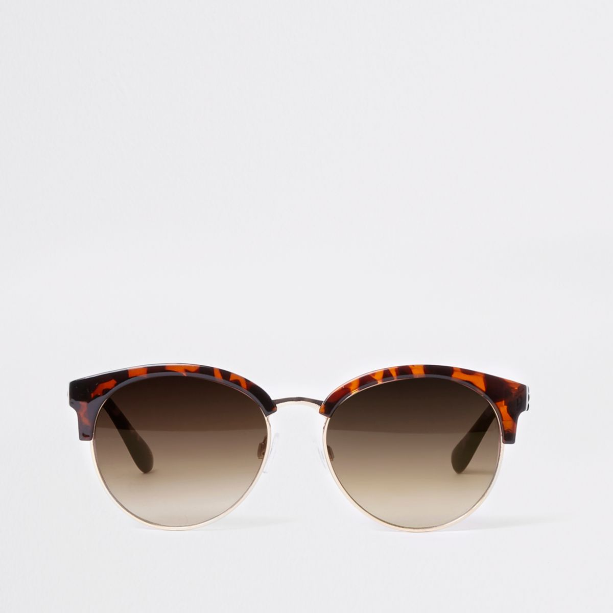 Brown tortoiseshell frame sunglasses