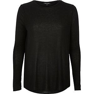 Black soft cotton top