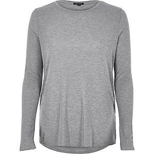 Grey soft cotton top
