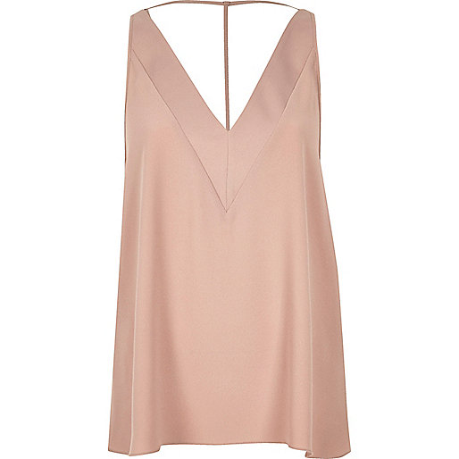 Blush pink T-bar cami top