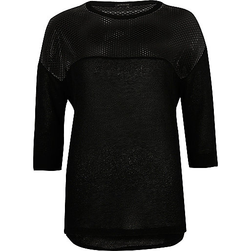 Black mesh panel top