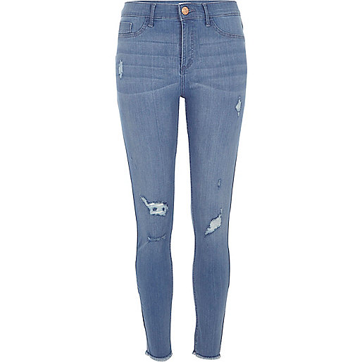 Mid blue wash Molly distressed jeggings