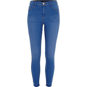 Blue bleached wash Molly jeggings