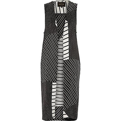 Black and white stripe duster jacket