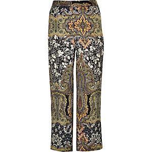Pantalon large Plus à imprimé vert