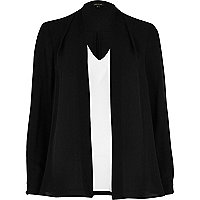 Schwarzweiße 2-in-1-Bluse
