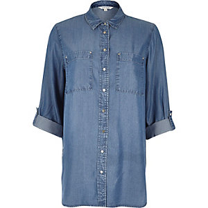 Light blue tencel shirt