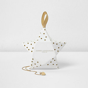 Johnny Loves Rosie gold plated drop necklace