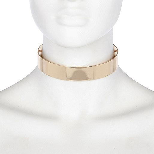 Halsreif in Gold-Metallic