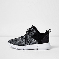 Black and grey runner sneakers