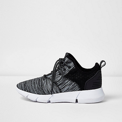 Black and grey runner trainers