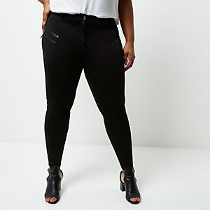 Plus black skinny fit trousers