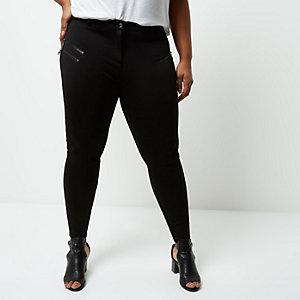 Pantalon Plus noir coupe skinny