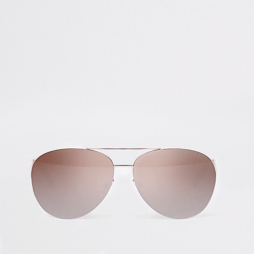 aviator mirror sunglasses  Womens Aviator Sunglasses - River Island
