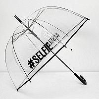 Doorzichtige #Selfie paraplu