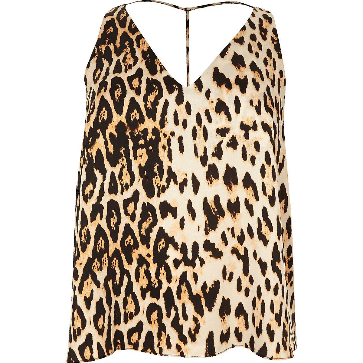 ddf667d3af1 Plus leopard print T-bar cami top - Cami   Sleeveless Tops - Tops - women