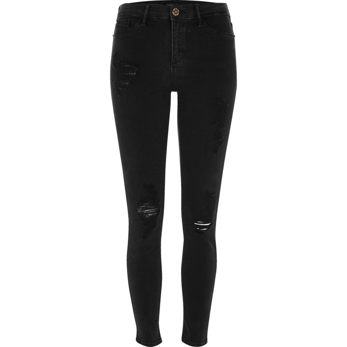 Black washed Molly ripped jeggings