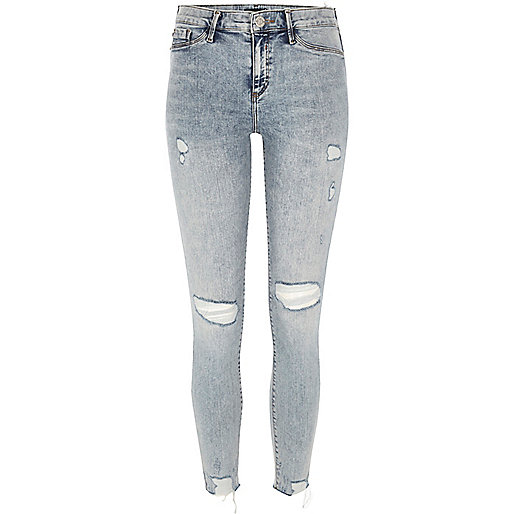 Molly – Zerrissene Jeggings in leichter Waschung
