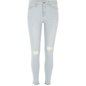 Molly light wash ripped jegging
