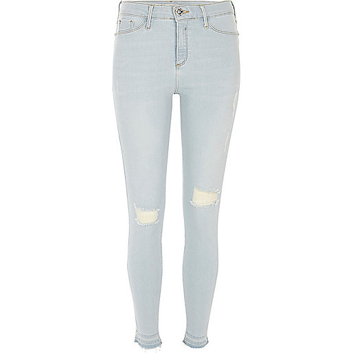 Light wash Molly ripped jeggings