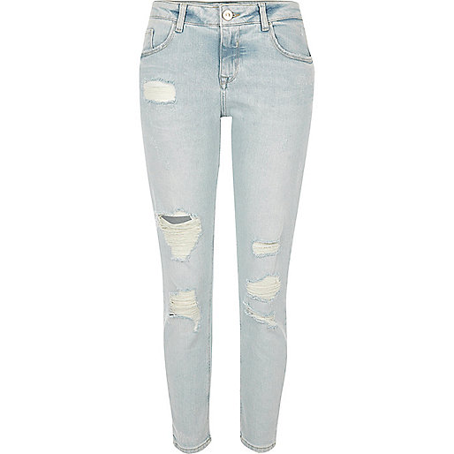 Light blue wash Alannah relaxed skinny jeans