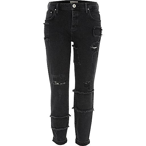 Ashley – Schwarze Boyfriend Jeans